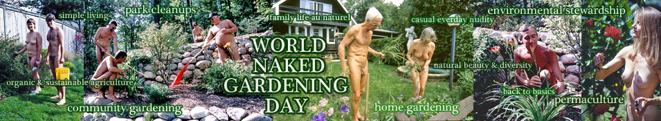 Naked nude gardening consider, that